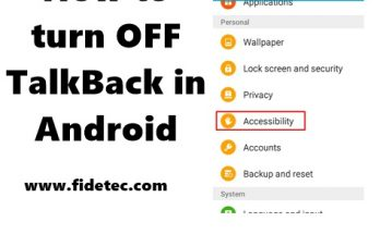 talkback in android