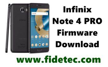 infinix note 4 pro firmware