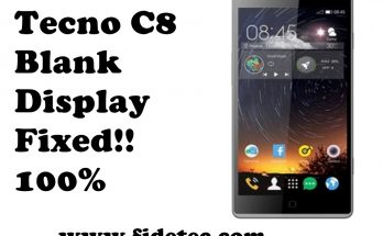 Tecno c8 display
