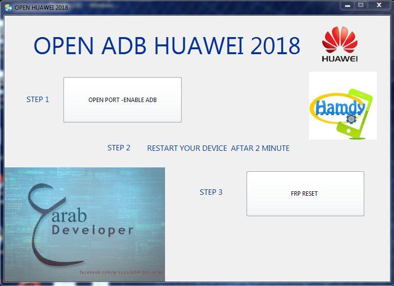 Open ADB Huawei 2018
