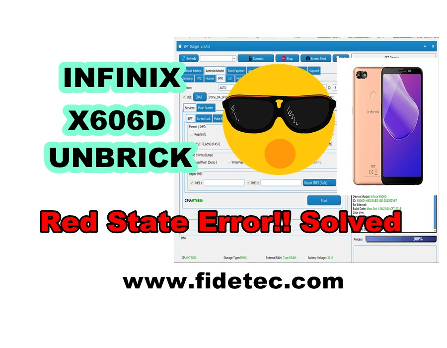 Infinix X606D Red State