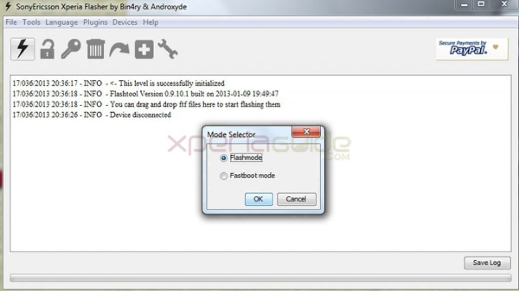 Xperia flash tool